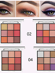 cheap -Durable Waterproof Easy To Wear Pearlescent Matte 9 Color Magic Eye Shadow Tray