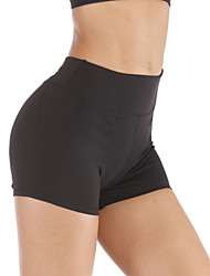 cheap -Women's High Waist Yoga Shorts Fashion Black Gray Elastane Running Fitness Gym Workout Shorts Bottoms Sport Activewear Moisture Wicking Quick Dry Butt Lift Tummy Control High Elasticity Slim