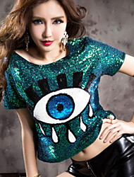 cheap -Diva Disco 1980s T-shirt Women's Sequins Costume Green Vintage Cosplay Prom Short Sleeve / Dress / Dress