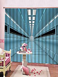 Недорогие -Фабрика прямой современный толстый 100% полиэстер занавес водонепроницаемый теплоизоляция плотные шторы для гостиной / гостиной