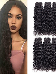 cheap -6 Bundles Malaysian Hair Water Wave Unprocessed Human Hair 100% Remy Hair Weave Bundles Natural Color Hair Weaves / Hair Bulk Bundle Hair Human Hair Extensions 8-28 inch Natural Color Human Hair