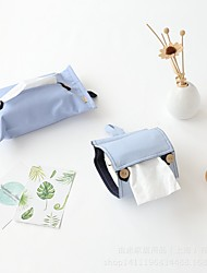 cheap -Household Solid Color Cotton Linen Tissue Box