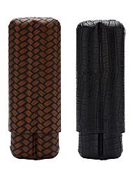 Недорогие -lubinski 2- палец кожаный футляр для сигар дорожный держатель для сигар футляр для сигар подарочный набор упакован с красивой подарочной коробкой
