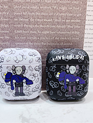 cheap -AirPods Case Silicone Solid Color Lovely Cartoon Pattern Shockproof Protective  Cover Portable For AirPods1 & AirPods2 (AirPods Charging Case Not Included)