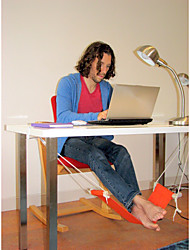 cheap -Orange Home Office Foot Rest Desk Feet Hammock