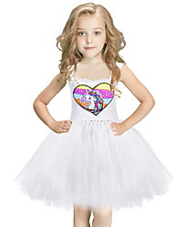 cheap -Princess Costume Kid's Girls' Fairytale Theme Halloween Performance Cosplay Costumes Theme Party Costumes Girls' Kids' Dancewear Terylene Paillette