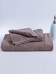 cheap -Superior Quality Bath Towel Set, Solid Colored / Fashion 100% Cotton Living Room / Bedroom / Bathroom 3 pcs