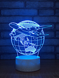 cheap -Earth Table Lamp Touch 3d Base White Beautiful 7 Color Switch Table Lamp For The Bedroom