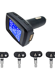 cheap -Car lighter TPMS LED display internal or external tire pressure monitoring system / Wireless transmission TPMS