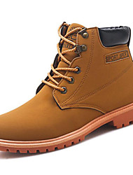 cheap -Men's Fashion Boots PU Spring / Fall Boots Booties / Ankle Boots Black / Brown / Office & Career / Combat Boots
