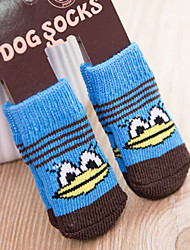 cheap -Dog Cat Pets Boots / Shoes Socks Simple Classic Stars Braided / Cord Cute Dog Clothes White / Black Yellow Red Costume Acrylic Fibers S M L