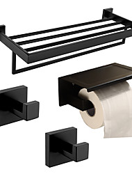 cheap -Toilet Paper Holder / Robe Hook / Bathroom Shelf New Design / Creative Contemporary / Traditional Stainless Steel + A Grade ABS / Stainless Steel / Metal 4pcs - Bathroom Wall Mounted