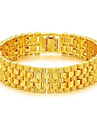 cheap -Men's Chain Bracelet Stylish Creative Fashion Dubai 18K Gold Bracelet Jewelry Gold For Party Daily