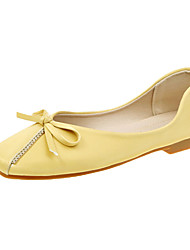 cheap -Women's Flats Flat Heel Square Toe Bowknot PU(Polyurethane) Sweet Walking Shoes Spring &  Fall Green / Almond / Black