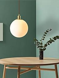 cheap -1-Light 25 cm Pendant Light Copper Glass Globe Brass Modern 110-120V / 220-240V