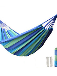 cheap -Tuban Camping Hammock Double Hammock Outdoor Portable Ultra Light (UL) Durable Canvas for 2 person Camping Outdoor Travel Stripes - Red Blue 280*150 cm