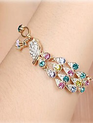 cheap -Women's Bracelet Hollow Out Peacock Cute Rhinestone Bracelet Jewelry Gold For Daily
