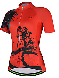 cheap -21Grams Gear Women's Short Sleeve Cycling Jersey - Red Pink Bike Jersey Top Breathable Moisture Wicking Quick Dry Sports Terylene Mountain Bike MTB Clothing Apparel / Micro-elastic / Race Fit