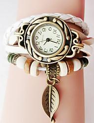 abordables -bracelet en cuir fait à la main bracelet de quartz de décoration de filles de la mode féminine