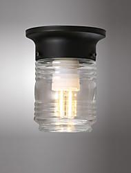 cheap -1-Light Mini Ceiling Light Round Pendant Light Flush Mount Lights Ambient Light Painted Finishes Metal for Corridor Balcony Basement