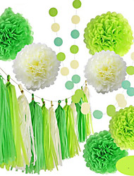 cheap -Tissue Paper Decoration Pure Paper Wedding Decorations Wedding / Party Classic Theme / Wedding All Seasons
