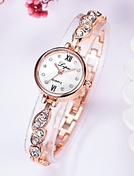 cheap -Women's Quartz Watches Cubic Zirconia Fashion Elegant Silver Rose Gold Alloy Chinese Quartz black / silver Rose Gold Golden+Black New Design Casual Watch 1 pc Analog One Year Battery Life