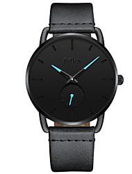 cheap -Men's Dress Watch Quartz Leather Black / Grey Casual Watch Analog Minimalist - Black Gray