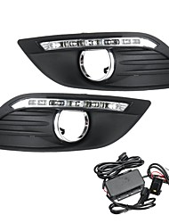 cheap -LED DRL Daytime Running Lights Lamp White with Wiring Pair For Ford Focus 2008-2013