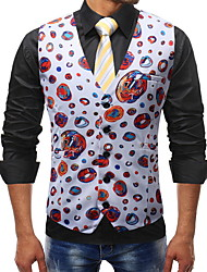 cheap -Polyester Wedding Vests / Modern Contemporary Romantic / 3D / Geometic