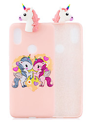 cheap -For XIAOMI Redmi S2 3D Cute Coloured Painted Animal TPU Anti-scratch Non-slip Protective Cover Back Case