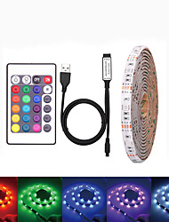 cheap -LOENDE Waterproof USB DC 5V 5M LED Strip 5050 RGB Tape TV Background Lighting DIY Home Decorative Lamp With 44Key Controller Set