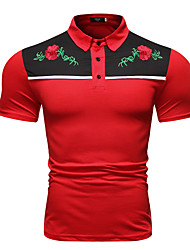 cheap -Men's Color Block Classic Style Formal Tops Black Red