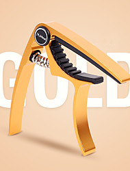 cheap -Beautiful Acoustic Guitar Capo in Colors with 2 picks