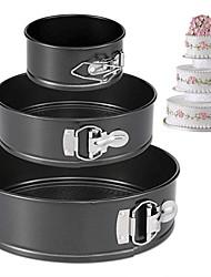 Недорогие -3шт Нержавеющая сталь Специальный материал Своими руками Хлеб Многофункциональный Для торта Круглый Форма для выпечки Формы для пирожных Инструменты для выпечки