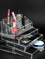 cheap -Storage Organization Cosmetic Makeup Organizer Acrylic Rectangle Shape Multilayer