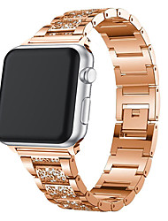 cheap -For Apple Watch Band 40mm 44mm 38mm 42mm Women Diamond Band For Apple Watch Series 4 3 2 1 IWatch Bracelet Stainless Steel Strap
