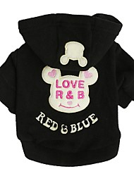 cheap -Dog Shirt / T-Shirt Sweater Hoodie Animal Cartoon Quotes & Sayings Simple Style Casual / Sporty Dog Clothes Black Fuchsia Blue Costume Polar Fleece XS S M L