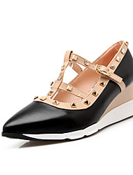 cheap -Women's Heels Wedge Heel Pointed Toe Rivet PU(Polyurethane) Minimalism Spring & Summer / Fall & Winter Beige / Blue / Pink