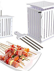 cheap -36 Holes Skewer Kebab Maker Single for BBQ Portable Foldable Multi-function for 3 - 4 person Stainless Steel Outdoor Camping Traveling Picnic White