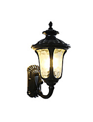 Недорогие -водонепроницаемый ретро наружные настенные светильники наружный алюминиевый настенный светильник ip 65 110-120v / 220-240v