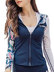 cheap -LCDRMSY Women's Rash Guard Sun Shirt Swim Shirt Thermal / Warm UV Sun Protection Quick Dry Long Sleeve Front Zip - Swimming Water Sports Patchwork Summer / High Elasticity