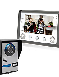 cheap -LITBest 801FA11 Wired CMOS IP Video Door Phone Doorbell Built In Out Speaker 7 Inch Hands-free 800*480 Pixel One to One Wall Mounting Doorphone