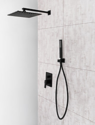 cheap -Shower Faucet / Bathroom Sink Faucet - Contemporary Painted Finishes Wall Mounted Ceramic Valve Bath Shower Mixer Taps