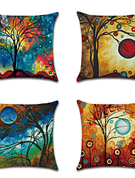 cheap -1 pcs Linen Pillow Cover, Art Deco Graphic Prints Traditional Fashion Throw Pillow