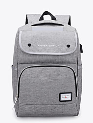 cheap -Large Capacity Oxford Zipper Commuter Backpack Solid Color Daily Black / Blushing Pink / Gray / Fall & Winter