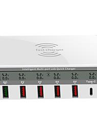 Недорогие -Зарядное устройство USB Tyinno 818F 7 Настольная зарядная станция Беспроводная без таймера / ЖК дисплей / Творчество Стандарт США / Евро стандарт / Стандарт Великобритании Адаптер зарядки