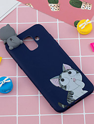 cheap -For Samsung A6 2018 3D Cute Coloured Painted Animal TPU Anti-scratch Non-slip Protective Cover Back Case