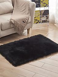 Недорогие -Dongguan pho_07wi40x40cm Австралийский имитация шерсти кожаный диван ковер коврик напольный овчина шерстяная подушка эркер подушка гостиная спальня длинное одеяло белый