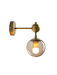 cheap -Wall Lamp Spherical Wall Lighting Modern Simple Wall Sconces Clear Glass Shade Corridor Washroom Wall Light Fixtures Globe Shape