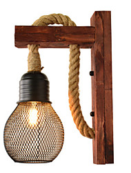 cheap -Creative Vintage Wall Lamps & Sconces Bedroom / Shops / Cafes Hemp Rope Wall Light 110-120V / 220-240V 40 W